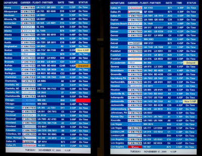 Departure And Arrival Board